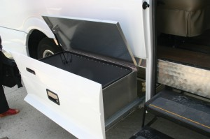 In addition to the increased 10 inches of width at the floor, the Mauck2 offers other advantages including optional pull-out underfloor storage compartments.