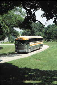 "MCI's ""Reliability Driven"" tag line is likely endorsed by most coach operators considering MCI's market share. Originally designed by Harry Zoltok to deal with early Canadian roads and harsh winters, MCI coaches today have an enviable reputation for both durability and reliability. Shown here is an MC-7 operated by Wisconsin Illinois Stages of Delavan, Wisconsin, a company owned by your editor."